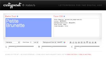 CSS TYPE